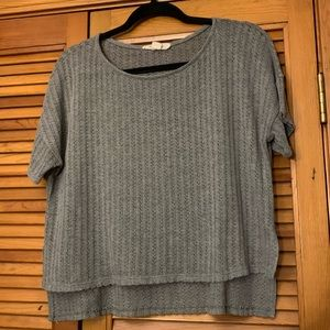 Forever 21 Gray Cropped Sweater | Medium